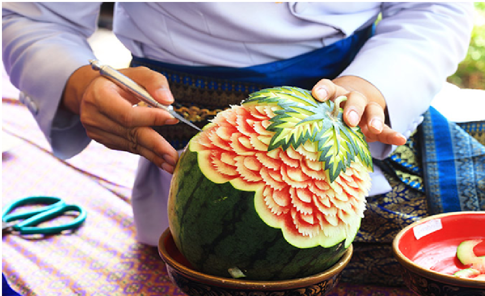 Carving activity in Thailand