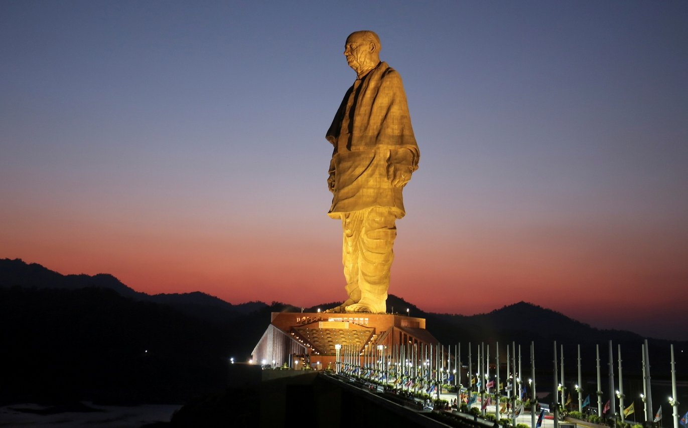Statue of Unity at Sunset
