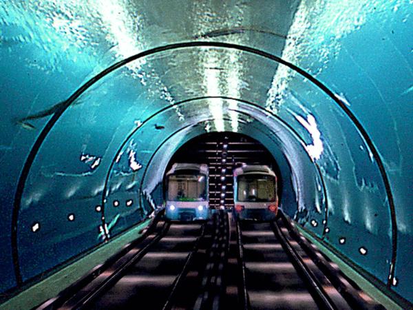 Underwater high speed rail