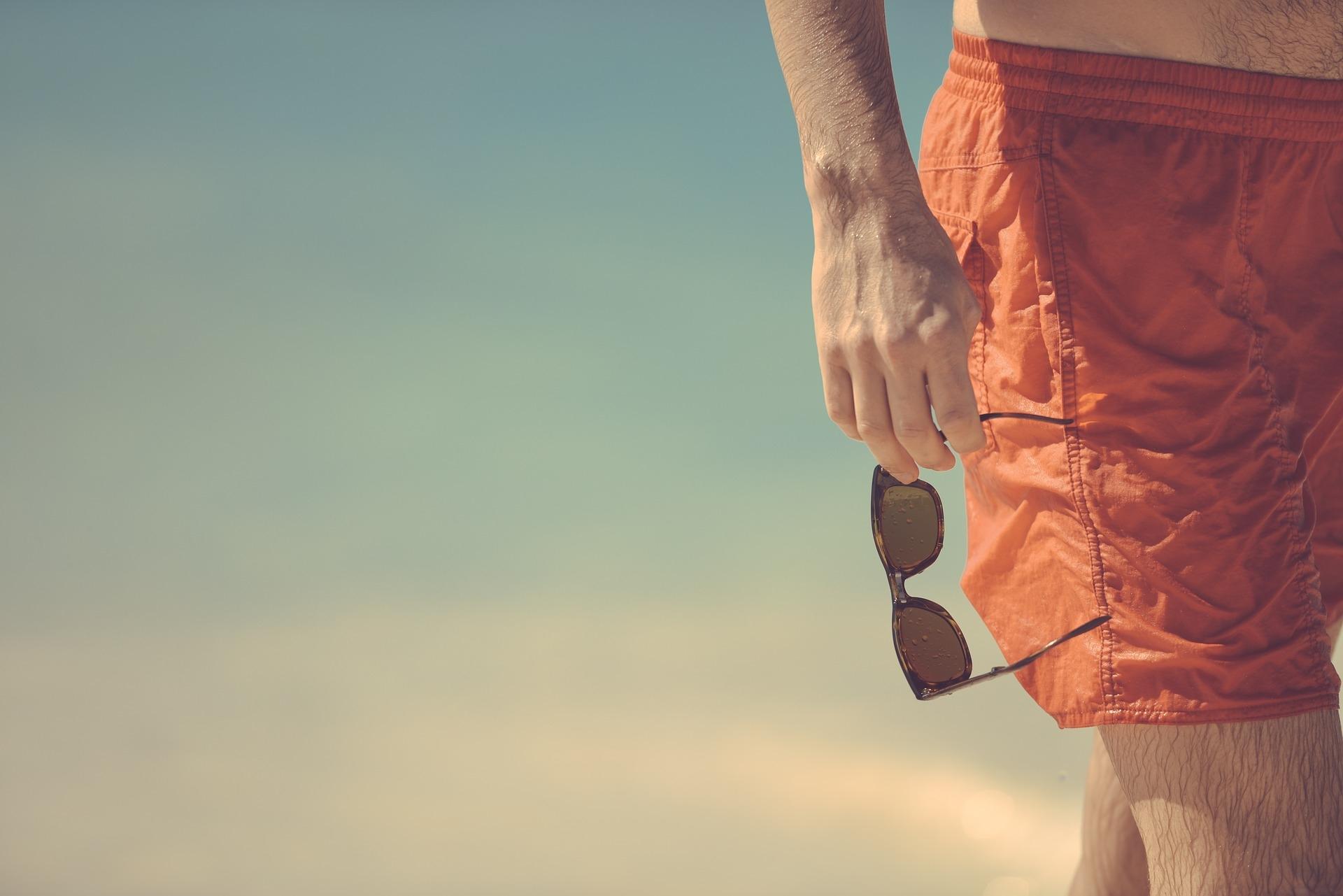 Man wearing shorts