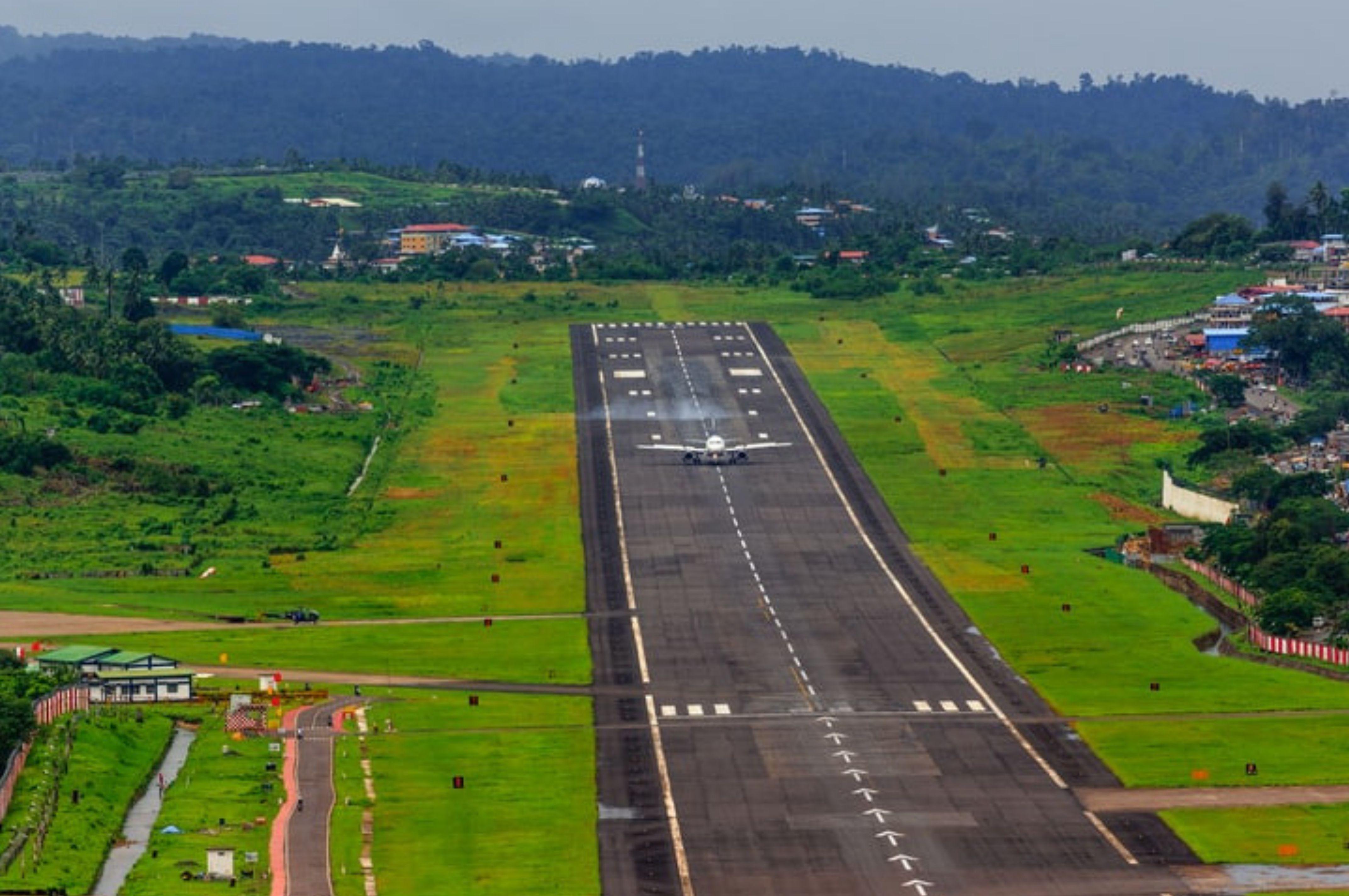 Flight Landing on a Runway