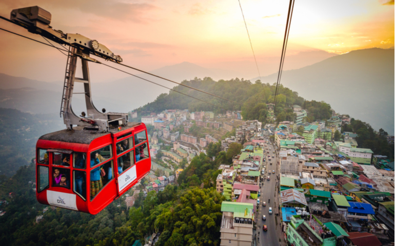 Gondola ride over Gangtok city