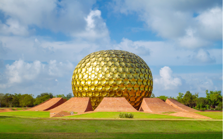 Matrimandir - Golden Temple in Auroville, Pondicherry