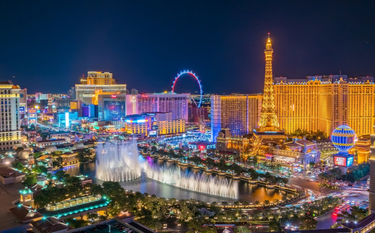 Las Vegas, Nevada, United States : Panoramic view of the Las Vegas Strip