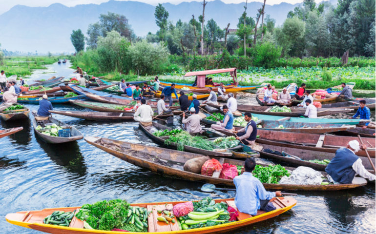 Dal Lake Floating Market of Kashmir