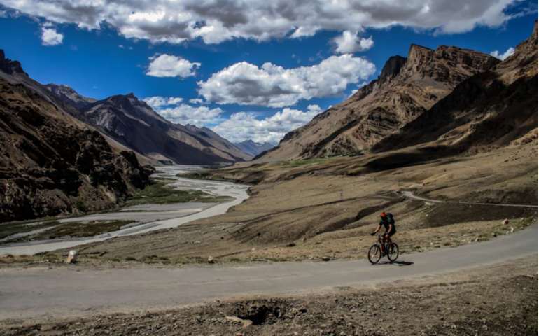 Mountain Biking in Spiti Valley, Himachal Pradesh