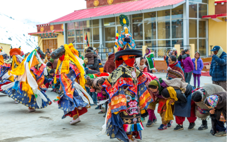 Traditional Mask Dance Festival in Spiti Valley  F