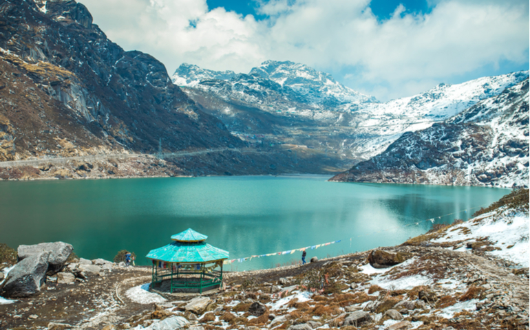 Tsongmo Lake in Sikkim, India.